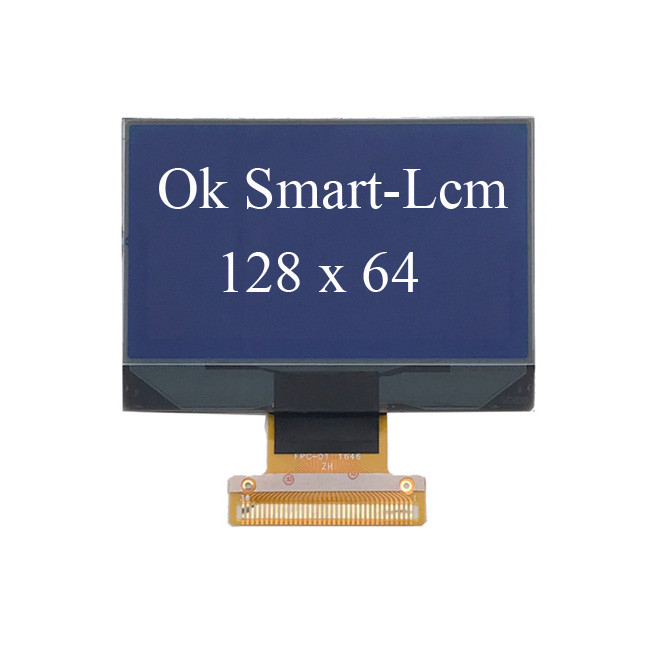 12864 Yellow Blue STN LCD Segment Display / Graphic Lcd Module